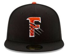 New Era Size 7 3/4 Fresno Grizzlies Orange/Black Home Hat Fitted Nationals AAA