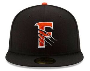 New Era Size 7 7/8 Fresno Grizzlies Orange/Black Home Hat Fitted Astros AAA NWT