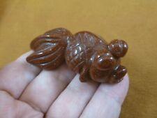 (Y-FIS-GO-700) Orange Goldstone Goldfish Moore gemstone carving fish aquarium