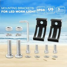 2X Universal Mounting Brackets Mount Rotating For Tri-row LED Work Light Bar Car