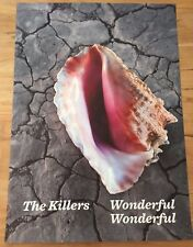 THE KILLERS - PROMO POSTER for DELUXE LP / WONDERFUL Amsterdam Ticket Tour 2018