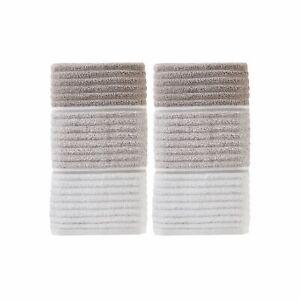 "Saturday Knight Ltd Planet Ombre 2-Piece Bath Hand Towel Set - 16x26"" Taupe"
