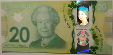 Gem UNC Canada $20 2015 commemorative Queen's historic reign polymer Bank Notes