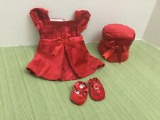 Bitty Baby Doll Clothes Sweet Scarlet Chritmas Holiday Velvet Outfit Lot 4pc EUC