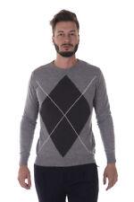 Maglia Daniele Alessandrini Sweater A/I MADE IN ITALY Uomo Grigio FM91763607 11