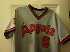 1985 BOB BOONE CALIFORNIA ANGELS GAME USED WORN JERSEY 25TH YEAR PATCH AND COA