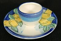 Dipinto A Mano Saucer with Attached Bowl Lemons Tuscan Pottery Hand Painted