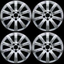 """4 New 2011-2014 Chrysler 200 17"""" Chrome Wheel Skins Hub Caps Covers Aluminum Rim"""