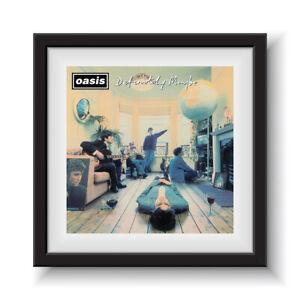 """Oasis - Definitely Maybe   12"""" Album Cover - Framed 16"""" x 16"""""""