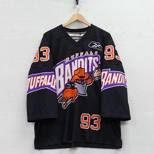 VTG 1995 Rodd Squire #93 Buffalo Bandits Reebok Maska Authentic Jersey 52 NLL