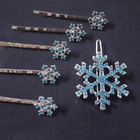 Fashion Princess Barrette Comb Jewelry Snowflake Hairpin Hair Clip Crystal