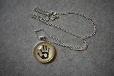 Skyrim Dark Brotherhood Necklace Pendant Chain. Skyrim Assassin Handprint Icon