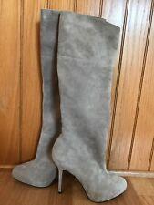 Sam Edelman Empire Boot Putty Suede Knee high Side Zipper silhouette Size 8.5 M
