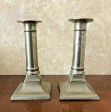 "Set of 2 Antique 5 1/2"" Brass Candlestick Holders"