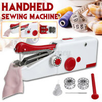 Portable Hand Held Single Stitch Fabric Quick Sewing Machine Home Travel USA ♡