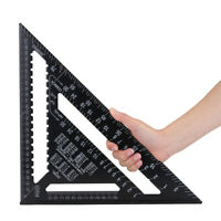 """12"""" Aluminium Roofing Triangle Rafter Angle Frame Measuring Square Carpenter"""