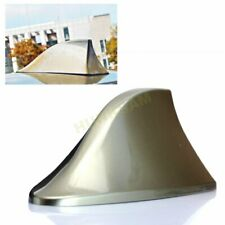 1X No drilling Gold Universal Car AM/FM Signal Shark Fin Style Aerial Antenna