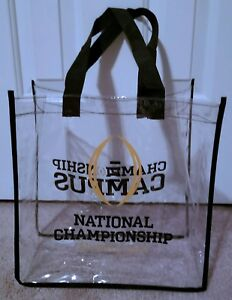 Clear Stadium Tote Bag College National Championship 2018 Football 12X12X10