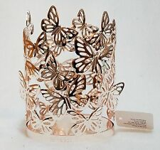 Bath Body Works BUTTERFLIES Rose Gold Soap Sleeve Holder Lotion Gel Decor