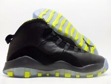 NIKE AIR JORDAN 10 RETRO (GS) BLACK/GREEN-GREY SIZE 4Y/WOMEN'S 5.5 [310806-033]