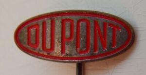 Rare Vintage 50s Pin Badge DUPONT maker marked Preissler Pforzheim (Germany)