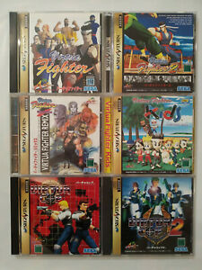 Sega Saturn Lot of 6 Games Virtua Fighter 1 & 2 Kids & Remix Virtua Cop 1 & 2