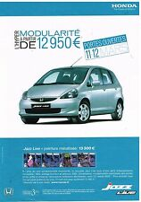 Publicité Advertising 2006 Honda Jazz Live