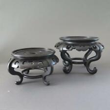 TWO LARGE CHINESE VASE OR BOWL STANDS FOR PORCELAIN OR JADE