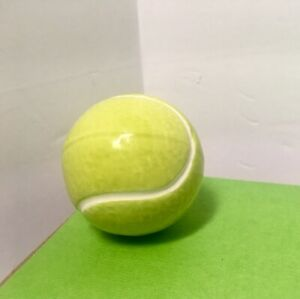 "NORA FLEMING Tennis Ball - Game, Set, Match! ""AS IS"" Mini RETIRED Version w/seam"