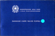 ITALIA 1984 LIBRO LIBRETTO EMISSIONE BUCA CARTE VALORI POSTALI EDITO AMM. POSTE