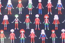 La gente sobre fondo negro material de seda italiana Casa de muñecas en miniatura de tela Ze