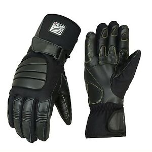 Motero Winter Waterproof Motorcycle padded knuckle Leather Cordura Gloves Winter