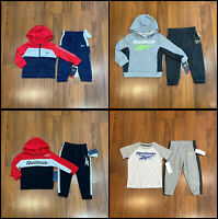 Reebok Baby Toddler Boy's Tracksuit Hoodie Pants Set Size 12M, 18M, 24M, 2T New