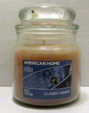 NEW YANKEE CANDLE CLASSIC DENIM SCENT FRAGRANCE 12 OZ GLASS JAR AMERICAN HOME