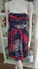 NWTS Karen Miller silk strapless cocktail dress.Sz12.Boned bodice.Fully lined
