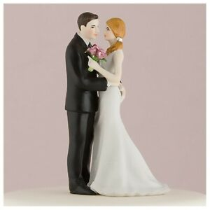 Romantic Bride and Groom Wedding Couple Cake Topper, Main Squeeze