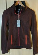 Bench Ladies size small Zip Up Jumper - funnel Jacque red/burgundy
