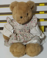 TEDDY AND FRIENDS TEDDY BEAR PLUSH TOY! SOFT TOY IN DRESS ABOUT 29CM SEATED!