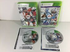 Lot of 2 Microsoft Xbox 360 Sports Games NHL 13 Hockey and Madden 13 Football