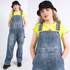WOMENS H&M MAMA MATERNITY DUNGAREES OVERALLS ALL IN ONE ROMPER DENIM BLUE 16 18