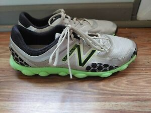 New Balance Minimus Mens Spikeless Golf Shoes Size 10 D Silver NBG1001