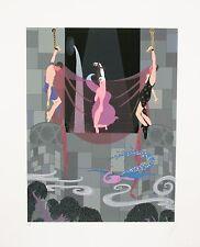 """""""Chaste Susannah"""" by Erté Signed Silkscreen Serigraph Artist's Proof 17"""" x 13"""""""