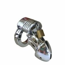 Male Chastity Cage Device Chrome Plated Steel - metal CBT