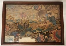 Antique 18th Century Glazed Chintz Fabric Fragment