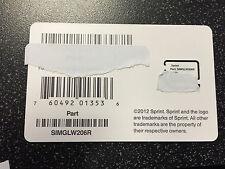 Sprint Boost Mobile Micro Sim Card Part SIMGLW206R 4G LTE