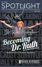 Actress Debra Jo Rupp Dr Ruth Westheiner Becoming Dr Ruth Signed Program Booklet