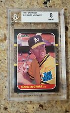 MARK MCGWIRE RC 87 DONRUSS RATED ROOKIE 1987 NO 46 BECKETT BGS 8