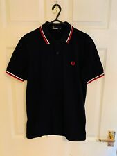 Dark Blue Fred Perry Short Sleeve Collar T-shirt Polo Shirt Size XS (8178)
