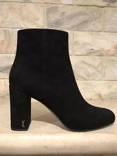 NIB YSL Yves Saint Laurent Babies 90 Black Chelsea Pin Block Heel Ankle Boot 41
