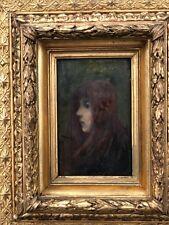 Ernest Robert Noir (1864-1931) Fillette, 1885 symboliste